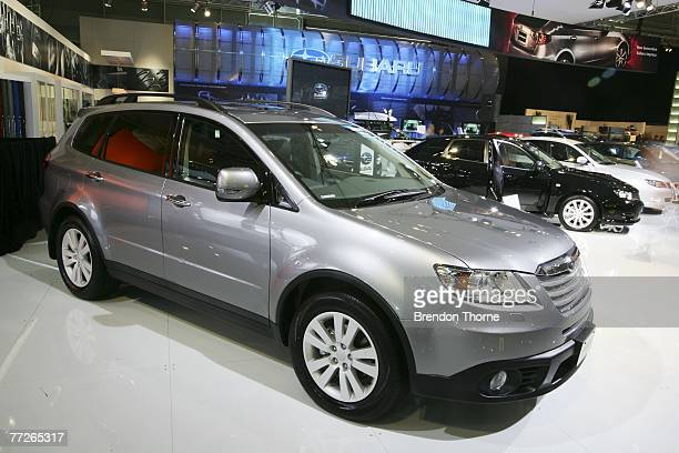 Subaru Tribeca is displayed at the 2007 Australian International Motor Show at the Sydney Convention and Exhibition Centre on October 11 2007 in...
