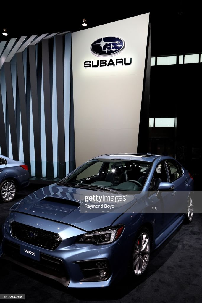 Subaru WRX is on display at the 110th Annual Chicago Auto Show at McCormick Place in Chicago, Illinois on February 9, 2018.