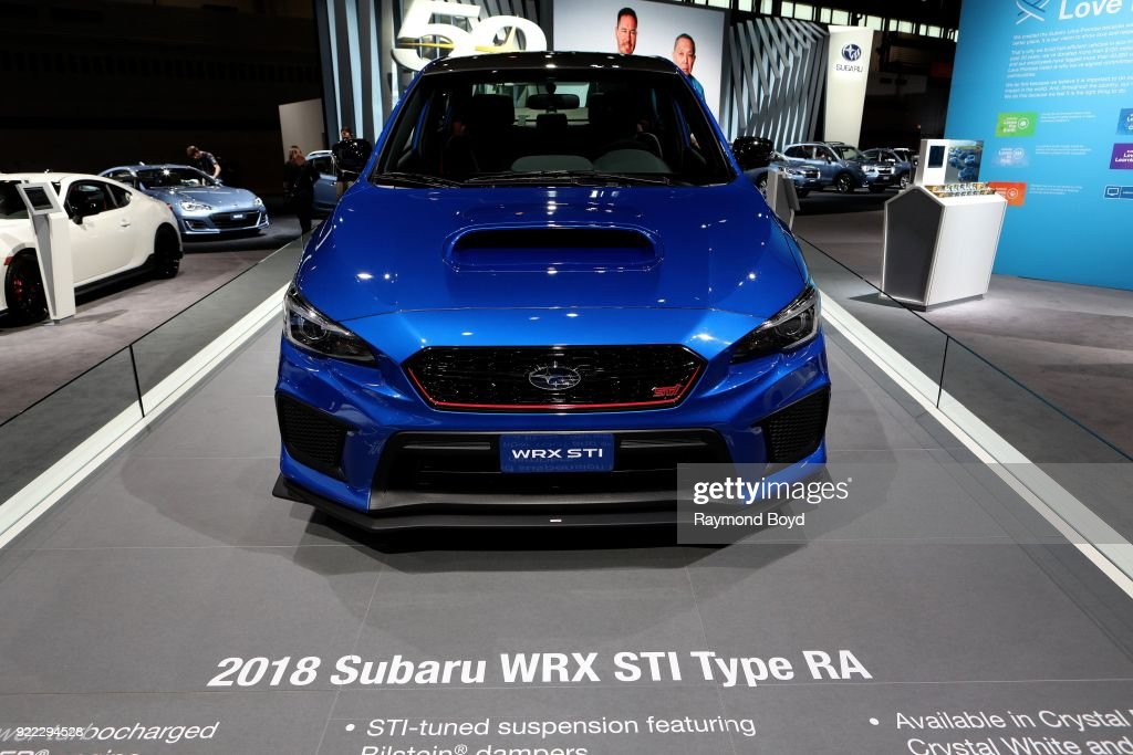 Subaru WRX STI Type RA is on display at the 110th Annual Chicago Auto Show at McCormick Place in Chicago, Illinois on February 9, 2018.