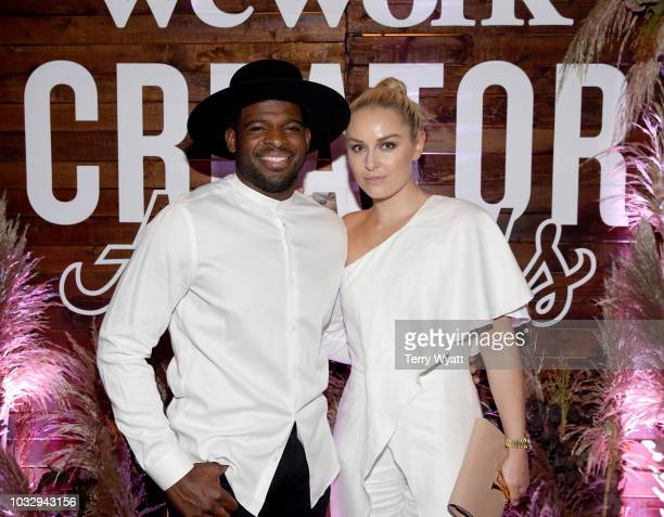 K Subban and Lindsey Vonn attend the Nashville Creator Awards hosted by WeWork at Marathon Music Works on September 13 2018 in Nashville Tennessee