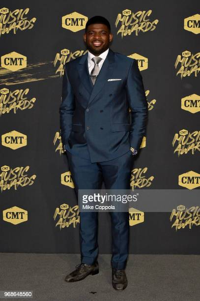 P K Subban attends the 2018 CMT Music Awards at Bridgestone Arena on June 6 2018 in Nashville Tennessee