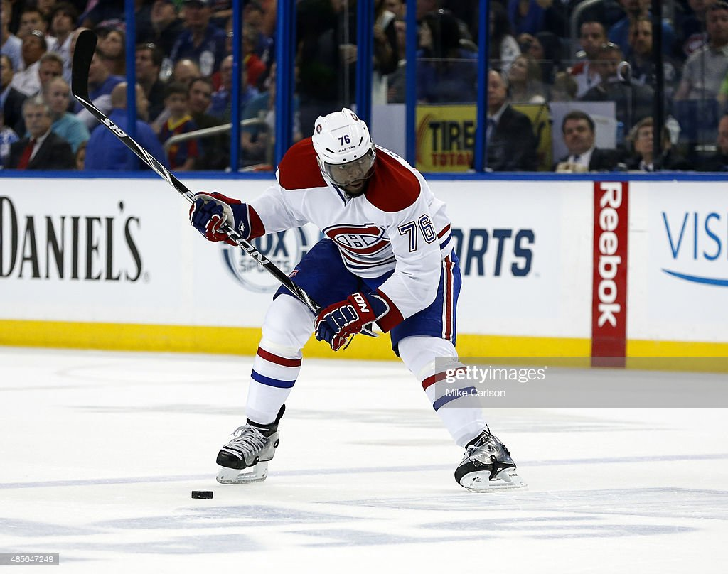 Montreal Canadiens v Tampa Bay Lightning - Game One : News Photo