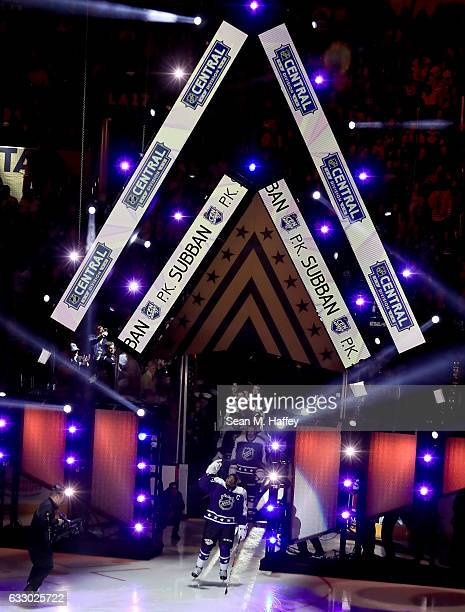 K Subban of the Nashville Predators is introduced prior to the 2017 Honda NHL AllStar Game at Staples Center on January 29 2017 in Los Angeles...