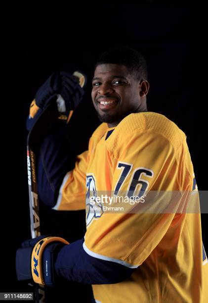 P K Subban of the Nashville Predators poses for a portrait during the 2018 NHL AllStar at Amalie Arena on January 27 2018 in Tampa Florida