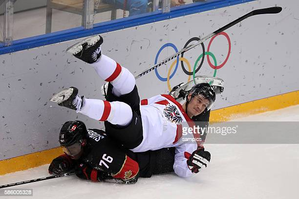 Subban , Oliver Setzinger Ice Hockey men Premilary Round Group B , Game 9 Bolshoy Ice Dome Canada - Austria Olympic Games Day 6 XXII Olympic Winter...