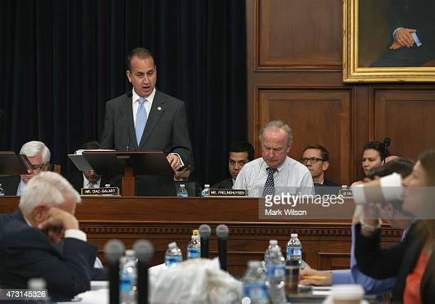 Subcommittee Chairman Mario DiazBalart speaks during a House Appropriations Committee markup on Capitol Hill May 13 2015 in Washington DC The full...