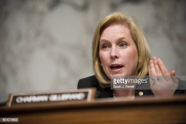 Subcommittee on Domestic and Foreign Marketing Inspection and Plant and Animal Health Chairwoman Kirsten Gillibrand DNY during a joint hearing of two...