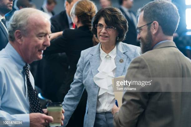 Subcommittee ranking member Rep Lucille RoybalAllard DCalif and full committee chairman Rep Rodney Frelinghuysen RNJ left are seen during a House...