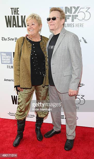 Subject/Book Author Philippe Petit and Kathy O'Donnell attend the Opening Night Gala Presentation and The Walk World Premiere during 53rd New York...