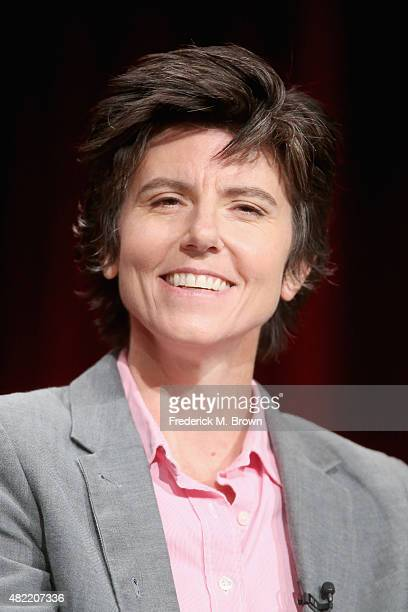 Subject/executive producer Tig Notaro speaks onstage during the Netflix documentaries panel discussion at the Netflix portion of the 2015 Summer TCA...