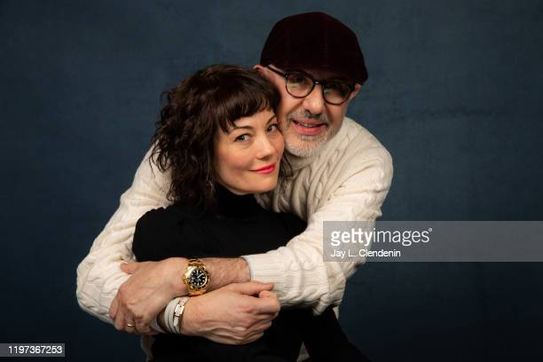 Subject/producer Natasha Gregson Wagner and director Laurent Bouzereau from 'Natalie Wood What Remains Behind' are photographed in the LA Times...