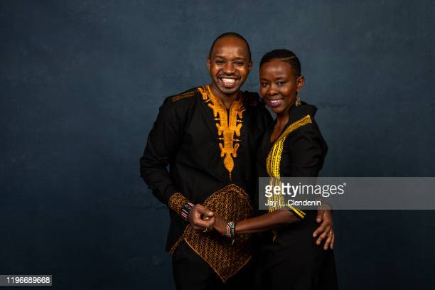 Subjects Boniface Mwangi and Njeri Mwangi from 'Softie' are photographed in the LA Times Studio at the Sundance Film Festival on January 24 2020 in...