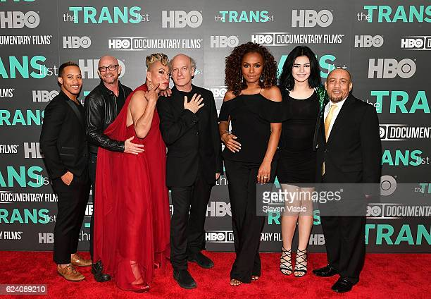 Subjects of the documentary Shane Ortega Buck Angel Bamby Salcedo director/producer Timothy GreenfieldSanders interviewer/producer Janet Mock...