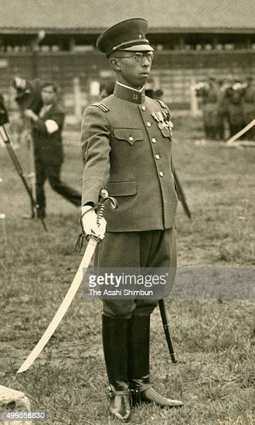 SubLieutenant of the Japanese Imperial Army Prince Mikasa is seen on October 1 1936 in Narashino Chiba Japan