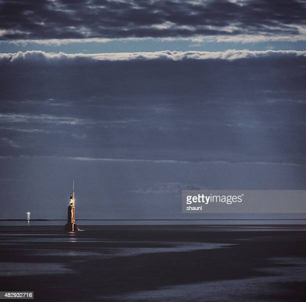 Submarine in Moonlight