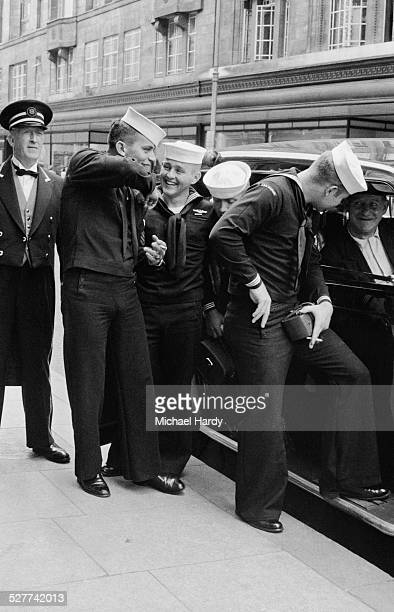 Submariners from the USS Nautilus take a tour of London 13th August 1958