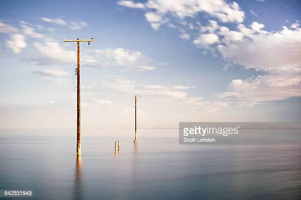 Submerged Utility Poles