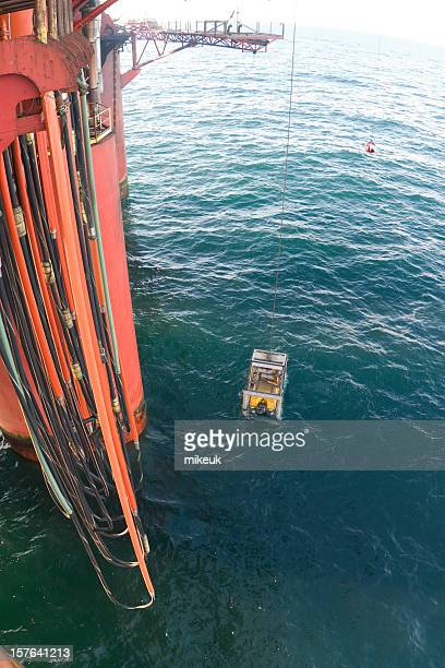 ROV submersible on oil rig