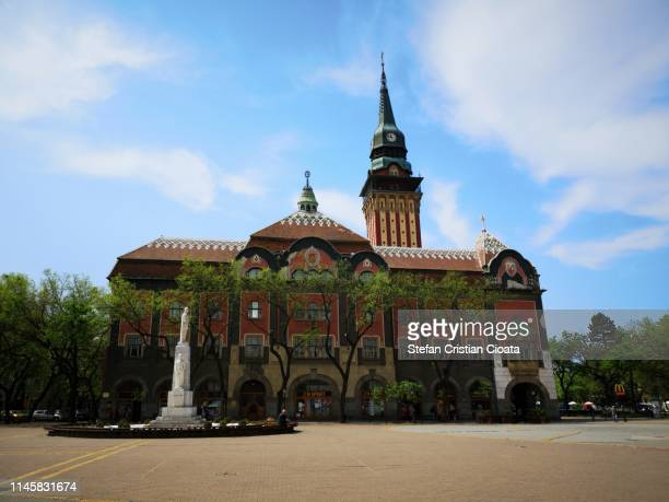 subotica city hall, serbia - hungarian culture stock photos and pictures