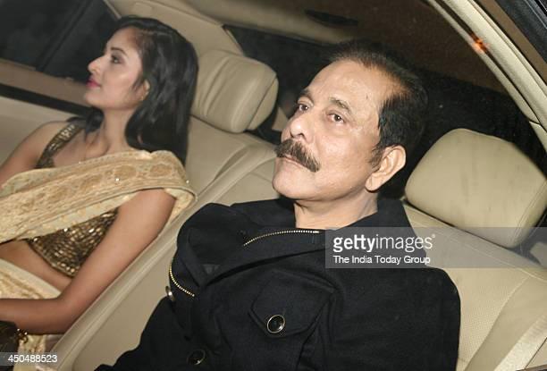 Subrata Roy arrives for Sachin Tendulkars farewell party in Mumbai