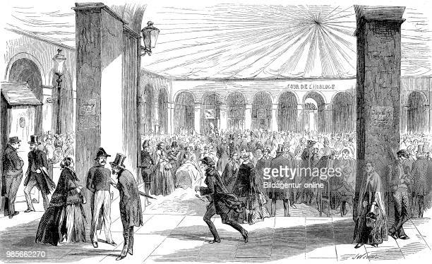 Subscription process of investors signing up and committing to invest in War bond vor the Crimean War Paris France Digital improved reproduction of...