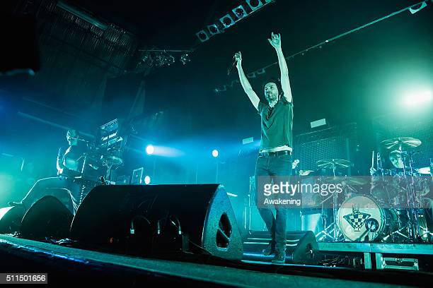Subsonica performs at Rivolta in Venice on February 20 2016 in Venice Italy