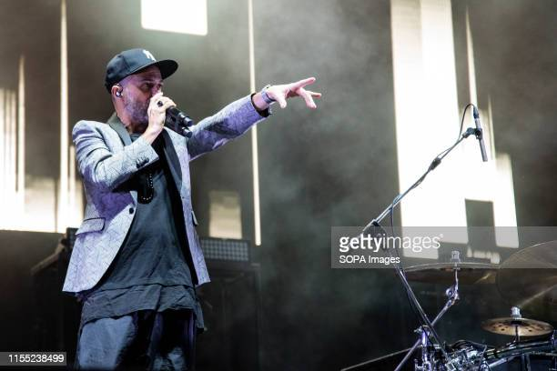 Subsonica performs live on stage during the music tour 2019 at the Stupinigi Sonic Park festival in Stupinigi
