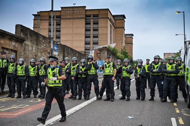 GBR: Black Lives Matter Protest Targets Sir Robert Peel Statue