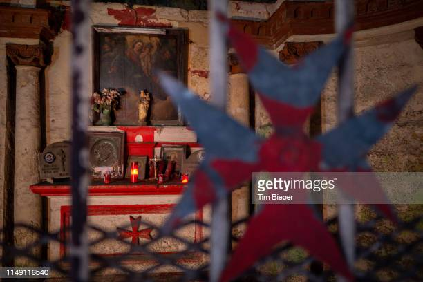 subterranean altar near the harbor - maltese cross stock photos and pictures