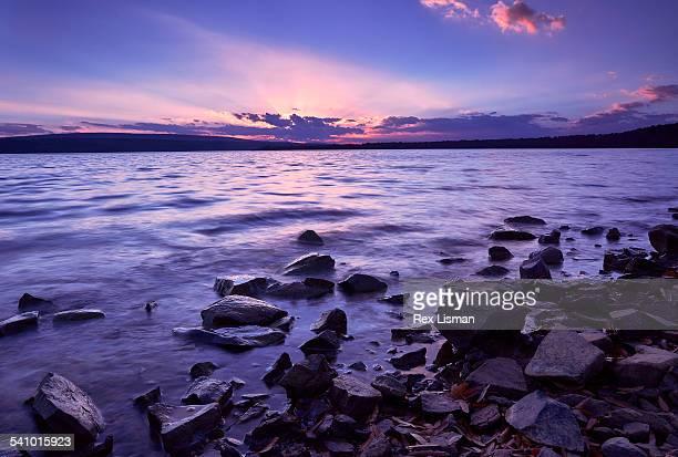 Subtle sunset on a lake