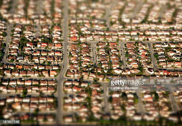 Suburan homes from the air