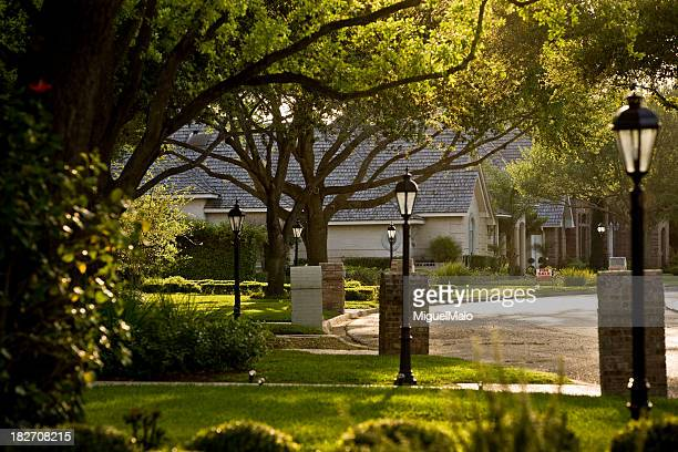 suburb - residential district stock photos and pictures