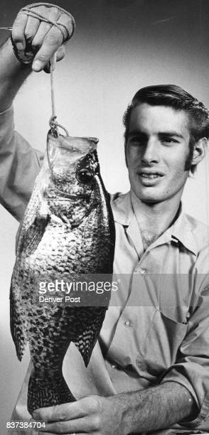 Suburb Yields monster crappie Dave Wood of 1616 E 78th Ave displays a threepound crappie he caught Sunday from Kendrick Reservoir in Lakewood near W...