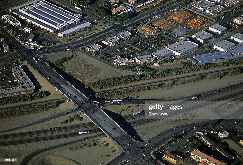 Suburban developments, Southern California, Aerial view : Foto de stock