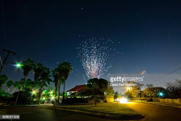 suburban fireworks - jamaica stock pictures, royalty-free photos & images