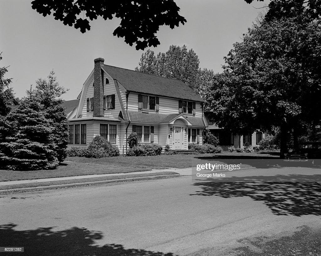 Suburban house exterior : Stock Photo
