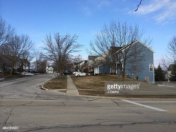 Suburban houses in Chicagoland