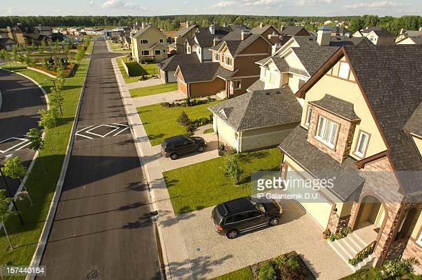 Suburban houses.