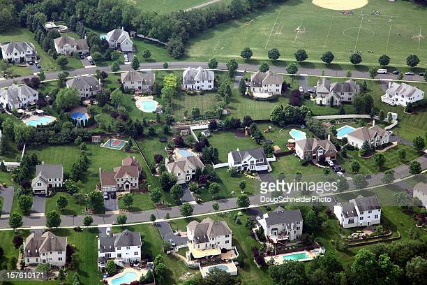 Suburban Neighbhorhood Aerial