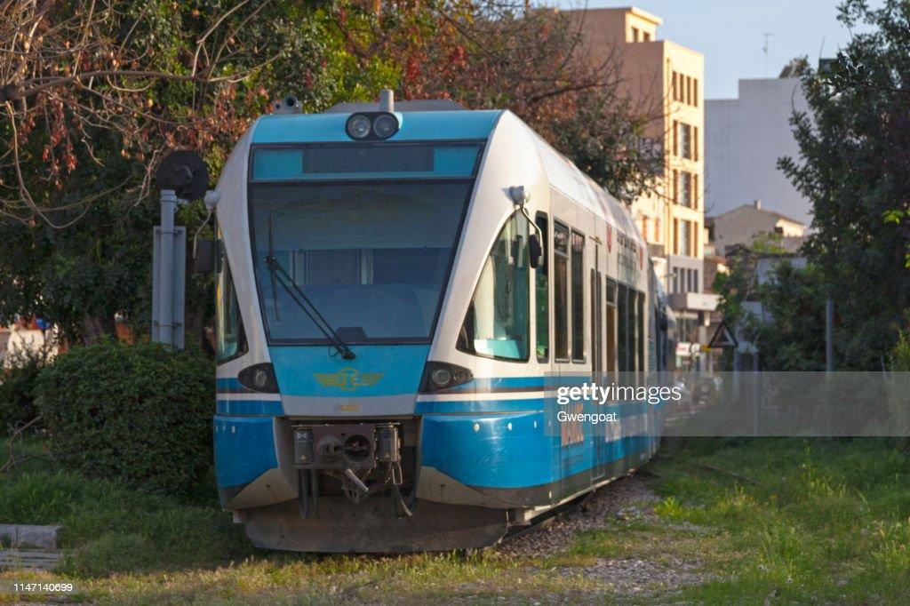 Suburban rail (Proastiakos) in Patras : Stock Photo
