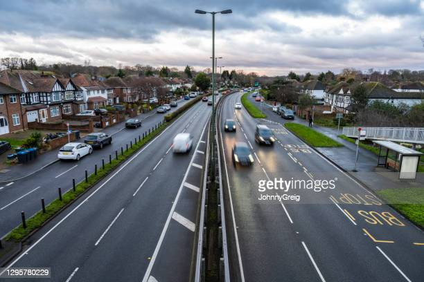 a3 suburban road, london, uk - journey stock pictures, royalty-free photos & images