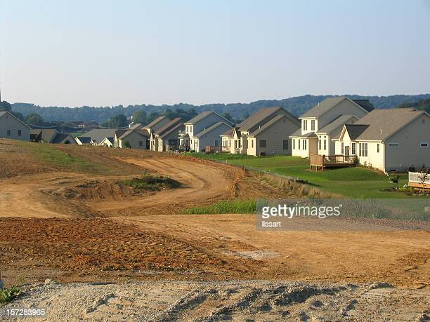 suburban sprawl - land stock pictures, royalty-free photos & images