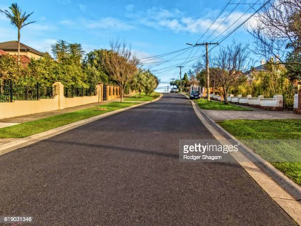 suburban street - suburban stock pictures, royalty-free photos & images