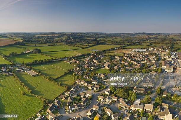 suburban streets, farmland vista - britain stock pictures, royalty-free photos & images