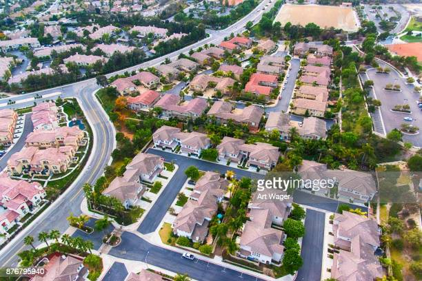 suburban subdivision aerial - carlsbad california stock pictures, royalty-free photos & images