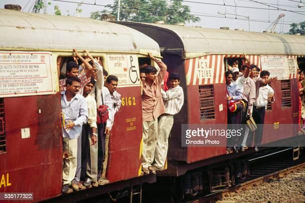 Suburban train un Bombay, Maharashtra, India.