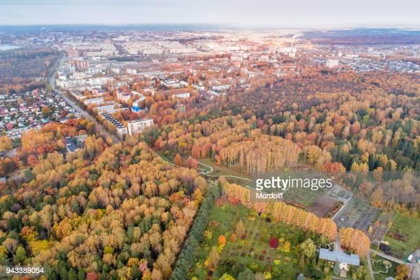 Suburban view of Yoshkar-Ola at autumn day