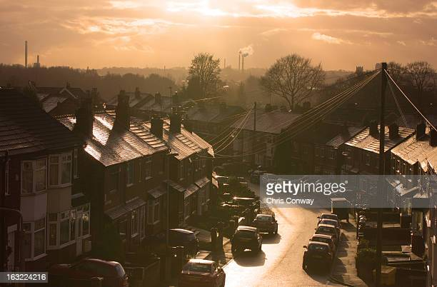suburbia....... - st helens england stock pictures, royalty-free photos & images