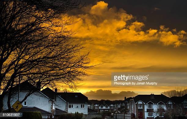 suburbian sunset - jonah heim stock-fotos und bilder