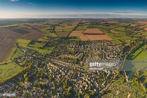 Suburbs patchwork quilt landscape